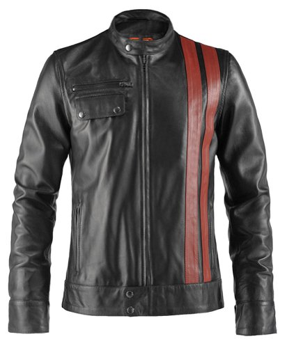 Soul Revolver Frankenstein 70s Retro Leather Jacket - Black - XXL