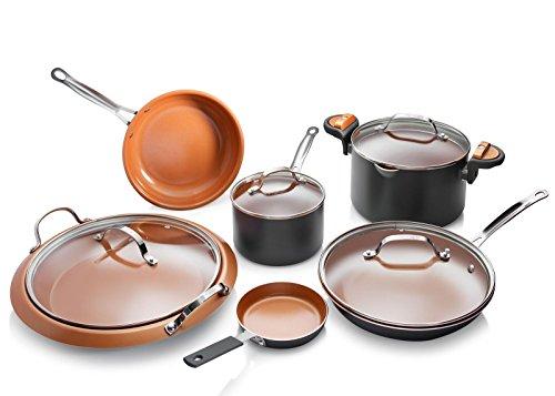 Gotham Steel 1992 Cookware Set, Large, Brown