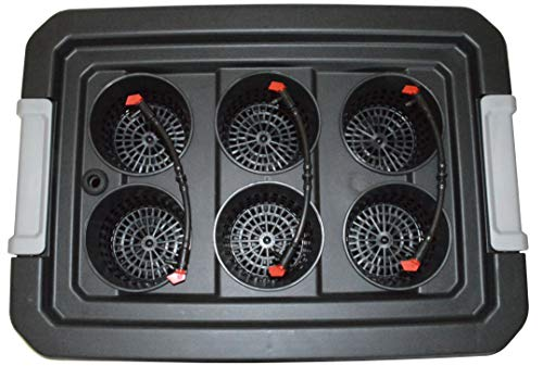 ❥ H2OtoGro 04063.75TF DWC Self Watering Hydroponic System No. 04St, 6 Site, 18x13-Inch, Black Hydroponic System 2