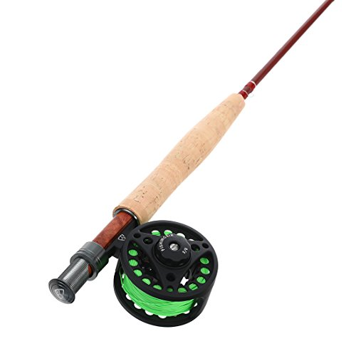 Fishingsir fly fishing rod and reel complete combo anglers for Fly fishing combo kit