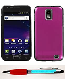 Accessory Factory(TM) Bundle (Phone Case, 2in1 Stylus Point Pen) SAMSUNG i727 (Galaxy S II Skyrocket) Hot Pink Cosmo Back Protector Cover (Warp speed)