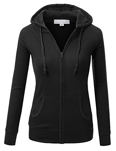J TOMSON Womens Casual Thermal Zip Up