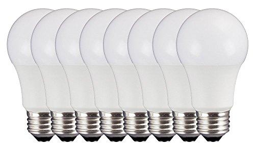 E26 Led (TCP 7W LED Light Bulbs (40W Equivalent), A19 - E26, Medium Screw Base, Dimmable, Soft White (2700K), (Pack of 8))