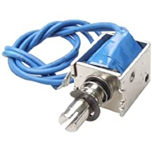 Uxcell a12022000ux0201 4N Push Type Open Frame Solenoid Electromagnet Actuator, DC 12V, 10 mm