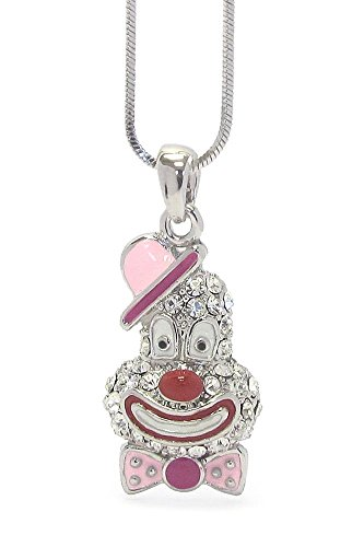 stal Clown Pendant Necklace with Gift Box (Clown Crystal)
