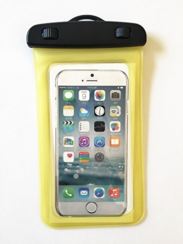 Activity Caribbean - Universal Waterproof Case for Cell Phone Great for Outdoor Activities (Yellow)