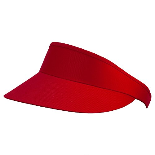 Cotton Twill Golf Clip On Visor - Red OSFM