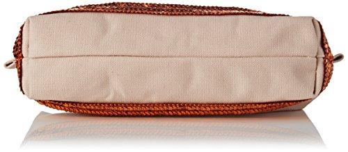 Vanessa Bruno Damen Cabas Trousse Coton Et Paillettes Clutch, 7x7x22 centimeters Beige (Chair/Ocre)
