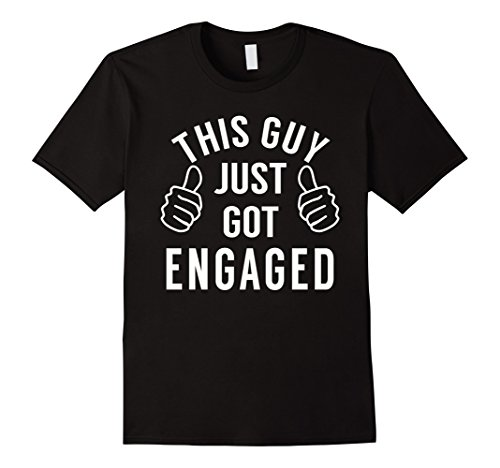 Mens Funny Just Engaged Shirt for Engagement Gift XL Black