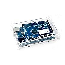 Solu Mega 2560 Case Enclosure Transparent Gloss Acrylic Box Compatible for Arduino// Clear Acrylic Box Enclosure Gloss Transparent Case for Arduino Mega2560 R3// Durable Transparent Acrylic Box Enclosure Hard Cover for Arduino Mega2560 R3