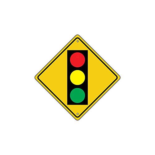 Traffic Light Ahead with Symbol Crossing Metal Aluminum Road Sign - Signs Traffic Metal