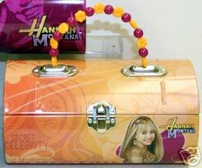 Hannah Montana Tin Box - Licensed Disney Hannah Montana Orange & Red Tin Purse