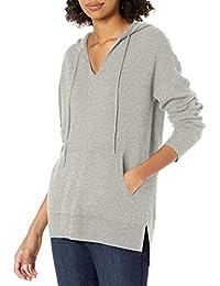 Amazon Brand - Daily Ritual Women's Ultra-Soft Milano Stitch Drawstring Hoodie Sweater