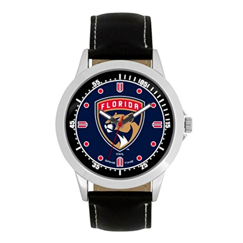 Florida Player Series (NHL Florida Panthers Mens Player Series Wrist Watch, Silver, One Size)