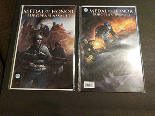 Medal of Honor #0 Variant Cover Comic Book Set - EA Games Video Game Promotional Comics - World War II - WW2