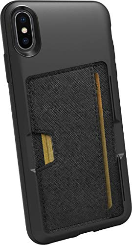 Best Silk iPhone Xs Max Wallet Case - Wallet Slayer Vol. 2 [Slim Protective Kickstand] Credit Card Holder for Apple iPhone 10S Max - Black Tie Affair