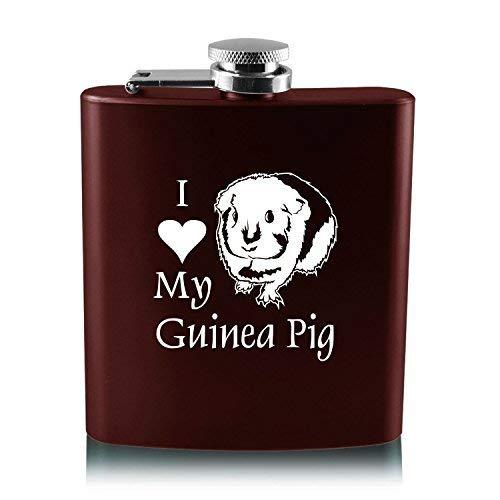 2019春の新作 6オンスステンレス鋼フラスコ – I B013RU58VK Love My Guinea – pig-burgundy I B013RU58VK, 羽生市:a7a6ad98 --- pardeshibandhu.com