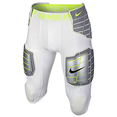 Nike Pro Combat Mens Hyperstrong 3/4 Pants (Large, White/Volt)