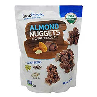 Innofoods Almond Nuggets in Dark Chocolate 16 oz.