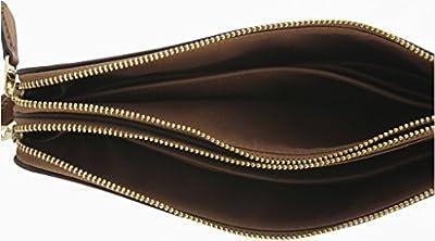 Coach Signature Double Zip Wallet Wristlet, F54057