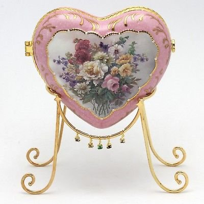 Ardleigh Elliott Lena Liu Tribute to Mother Porcelain Heart Music Box with Stand (Lena Liu Music Box)