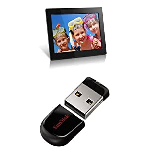 Aluratek 15-inch Hi-Res Digital Photo Frame with SanDisk Cruzer Fit