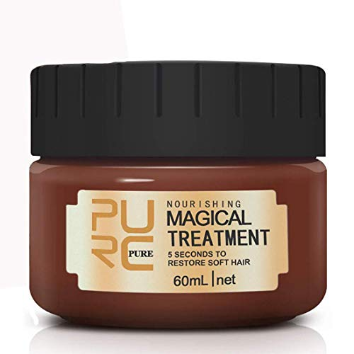 60ml Magical keratin Hair Treatment Mask 5 Seconds Repairs Advanced Molecular Hair Conditioner Root Hair Tonic Keratin Hair & Scalp Treatment Return Bouncy Restore Healthy Soft Hair Care Essence
