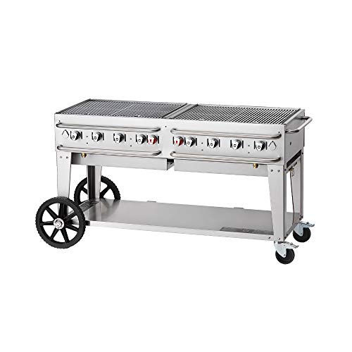 Crown Verity CV-RCB-60-LP Pro Series Grill, Liquid Propane Outdoor Charbroiler with 8 Burners