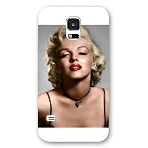 UniqueBox - Customized White Frosted Samsung Galaxy S5 Case, Marilyn Monroe Samsung S5 case, Only fit Samsung Galaxy S5