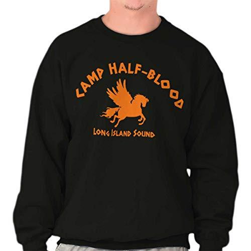 (Brisco Brands Camp Half Blood Greek Mythology Movie Gym Crewneck Sweatshirt)