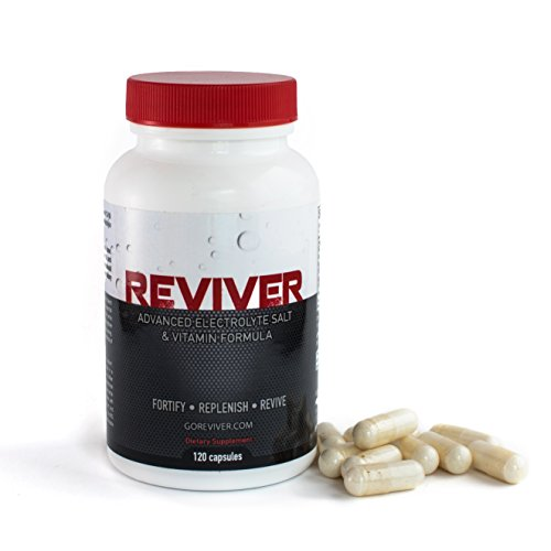 REVIVER Oral Rehydration Salts & Hangover Cure | Optimal Electrolyte Tablets & Electrolytes Replacement Supplement Pills | Dehydration & Muscle Cramps Prevention | 120 Capsules | 100% Guarantee