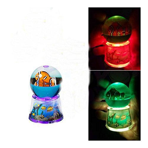 Mini CLOWN FISH light up globe visual sensory autism calming night by Unknown