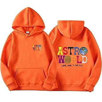 0b51a3cc25ac Amazon.com: ASTROWORLD Look Mom I Can Fly Hoodie Travis Scott ...