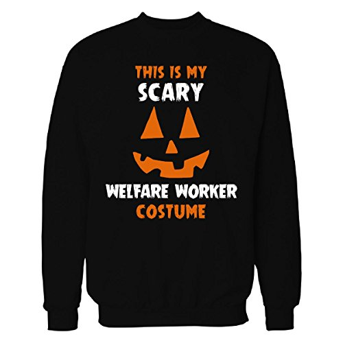 Welfare Mom Costume (This Is My Scary Welfare Worker Costume Halloween Gift - Sweatshirt Black 3XL)