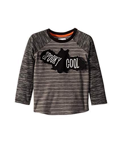 Halloween Long Sleeve T Shirts (Mud Pie Boys' Little Halloween Bat Spooky Long Sleeve Baseball T-Shirt, Gray, MD/)