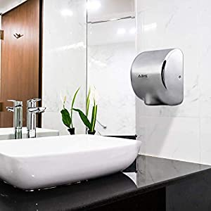 ABIS Hand Dryer for Toilets High Speed Automatic Electric Heavy Duty Stainless Steel Commercial