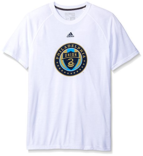 fan products of MLS Philadelphia Union Women's Phase Hat Hook Ultimate Short Sleeve V Tee, Small, White