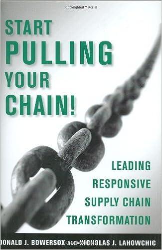 Pulling The Chain Stunning Start Pulling Your Chain Donald J PhD Bowersox Nicholas J