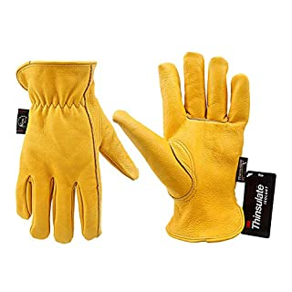 KIM YUAN Winter Warm Work Gloves 3M Thinsulate Lining Perfect for Gardening/Cutting/Construction/Motorcycle, Men & Women L