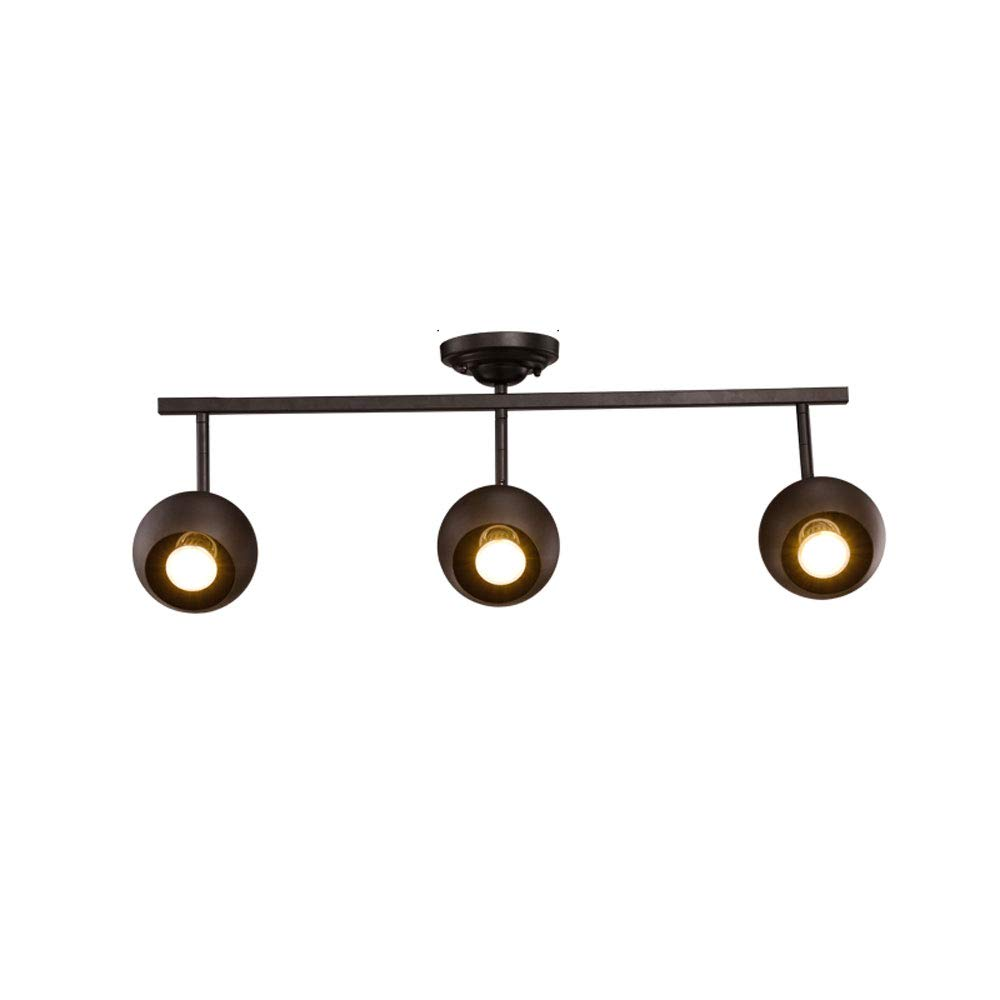 Mei Xu Track Light - Living Room Wall Track Lights Decorative Spotlights - Black - 70cm - 3 Heads Track Lamp