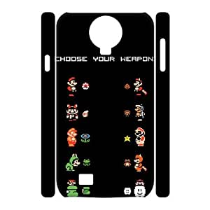 XOXOX Cover Custom Super Mario Phone 3D Case For Samsung Galaxy S4 i9500 [Pattern-5]