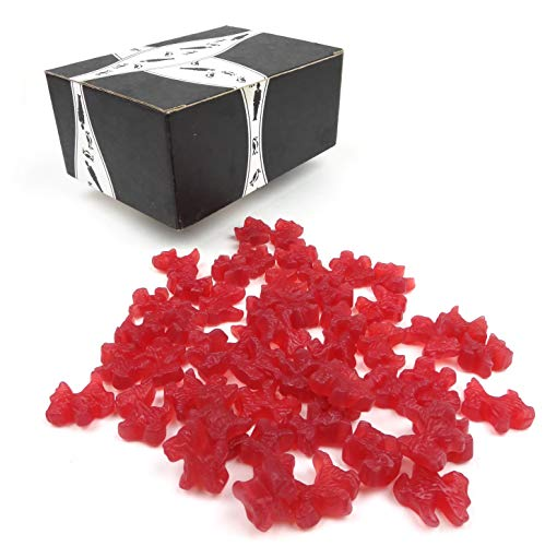 Gimbal's Strawberry Red Licorice Scottie Dogs, 1 lb Bag in a BlackTie Box
