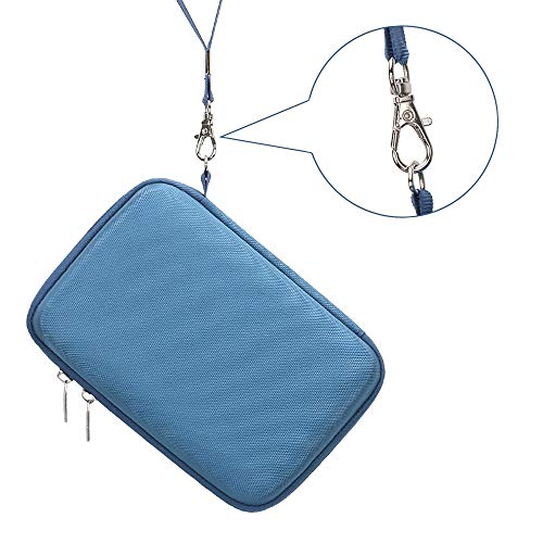 BOVKE 2-in-1 Carrying Case for Samsung T5 T3 T1 Portable 250GB 500GB 1TB 2TB SSD USB 3.1 Type C Hard Drive External Solid State Drives, Blue