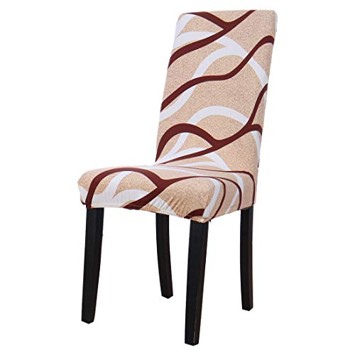 uxcell Dining Chair Cover,Stretch Bar Stool Slipcover Kitchen Chair Protector Spandex Chair Seat Cover for Home Decorative/Dining Room/Party/Wedding (Medium,Pattern 6)
