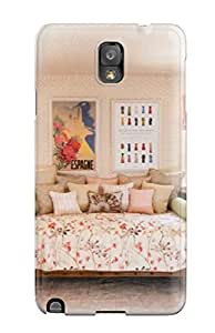 New Arrival Case Specially Design For Galaxy Note 3 (pink Cottage Style Girls Bedroom With Daybed And White Dresser)