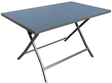 Tavoli Da Giardino In Alluminio Pieghevoli.Tavolo Da Giardino Pieghevole Alluminio 130x77 Antracite