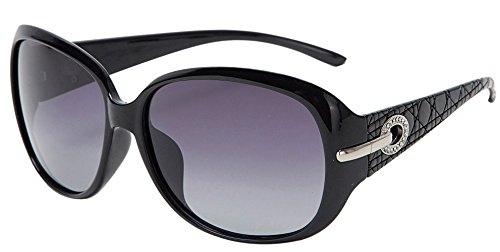 women fashion and Classic polarized sunglasses with UV400 len PROTECTION (Black, - Polarized Advantages Of Sunglasses