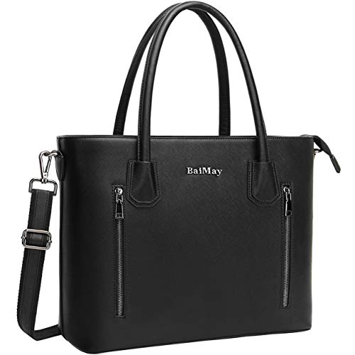 (Laptop Bag for Women,15.6 Inch Work Tote Classic Laptop Shoulder Bags Business Computer Purse with Padded Pocket for Office College Travel)