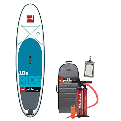2017 Red Paddle Co 10'6 Ride Inflatable Stand Up Paddle Board + Bag, Pump, Repair Kit, and Water...
