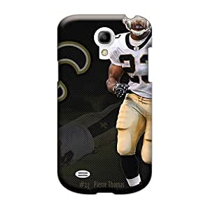 Customcases88 Samsung Galaxy S4 Mini Scratch Resistant Hard Phone Cover Support Personal Customs Realistic New Orleans Saints Image [jpa759YyBL]